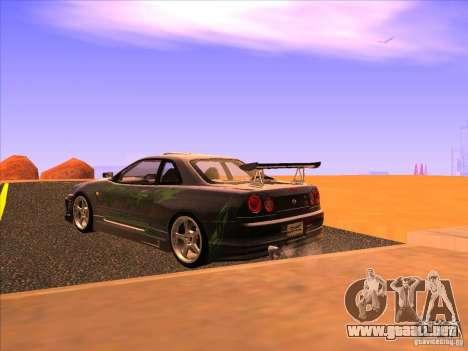 Nissan Skyline R34 Tunable para GTA San Andreas left