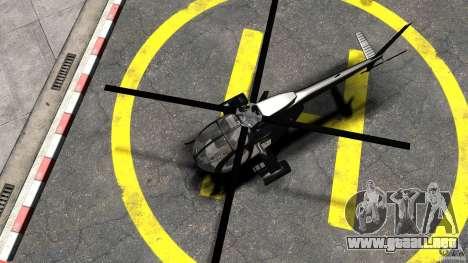 AH-6 LittleBird Helicopter para GTA 4 visión correcta