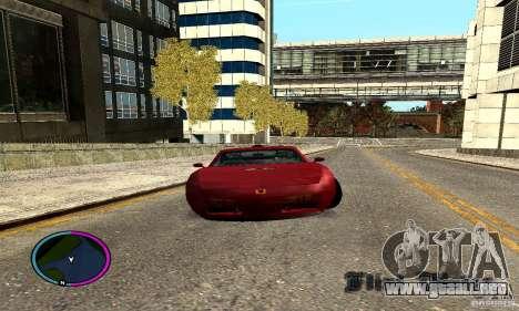 Axis Piranha Version II para GTA San Andreas vista posterior izquierda