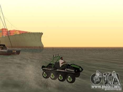 Vehículo todo terreno Argo Avenger para visión interna GTA San Andreas