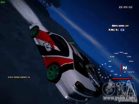Nissan Silvia S15 DragTimes para la visión correcta GTA San Andreas