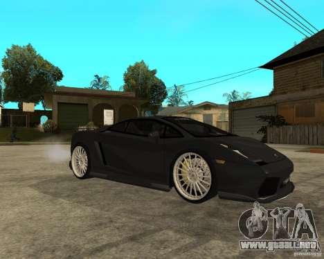Lamborghini Gallardo HAMANN Tuning para la visión correcta GTA San Andreas