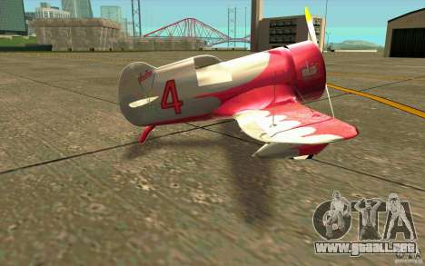 GeeBee typeZ para GTA San Andreas vista posterior izquierda