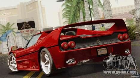 Ferrari F50 v1.0.0 Road Version para GTA San Andreas left