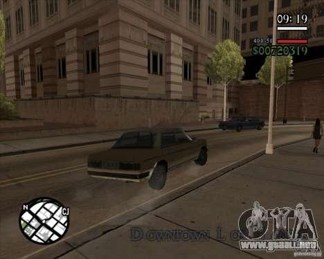 Nueva dirección pragmática para GTA San Andreas sucesivamente de pantalla