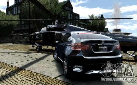 BMW X6 para GTA 4 Vista posterior izquierda