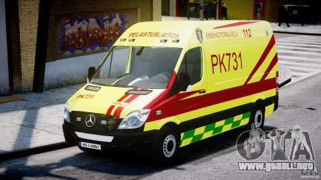 Mercedes-Benz Sprinter PK731 Ambulance [ELS] para GTA 4