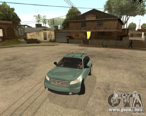 INFINITY FX45 para vista lateral GTA San Andreas