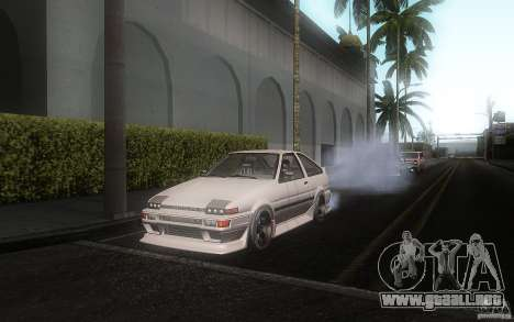 Toyota Sprinter Trueno AE86 Drift spec para GTA San Andreas left