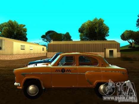 Taxi Moskvich 403 para GTA San Andreas left