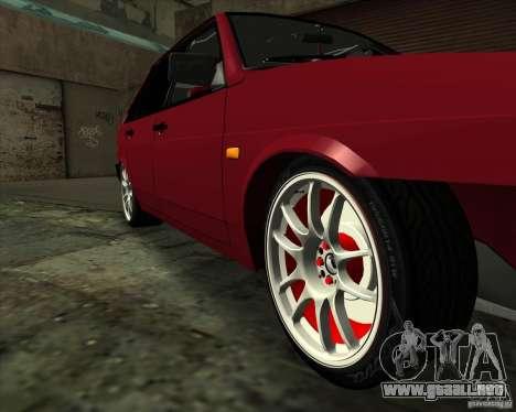 VAZ 2109 Drift para la vista superior GTA San Andreas