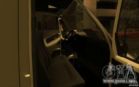 Gacela SPV-16 Rue para la visión correcta GTA San Andreas