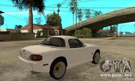 Mazda MX-5 JDM Coupe para la visión correcta GTA San Andreas