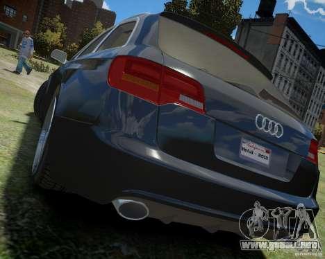 Audi A6 Avant Stanced para GTA 4 Vista posterior izquierda