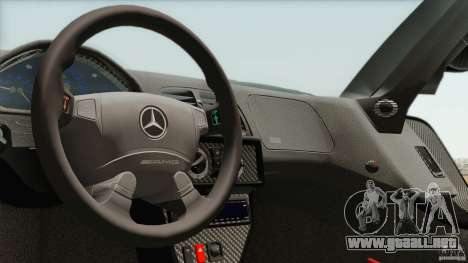 Mercedes-Benz CLK GTR Race Car para visión interna GTA San Andreas