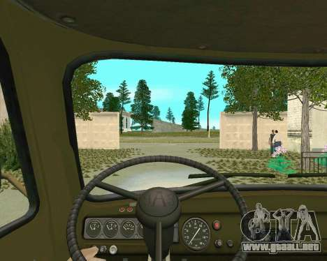 3303 UAZ para la visión correcta GTA San Andreas