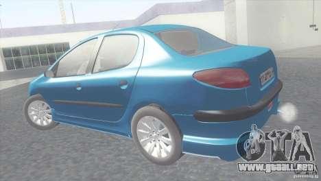 Peugeot 206 SD Iranian para GTA San Andreas left