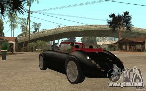 Wiesmann Roadster MF3 para GTA San Andreas vista posterior izquierda