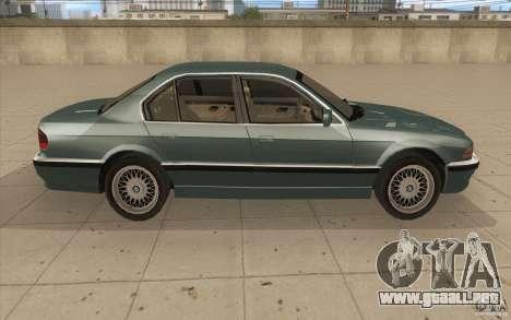 BMW 750iL 1995 para visión interna GTA San Andreas