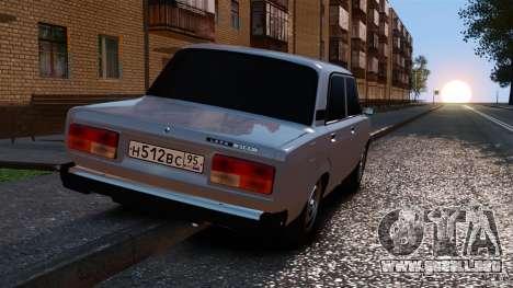 VAZ-2107 para GTA 4 Vista posterior izquierda