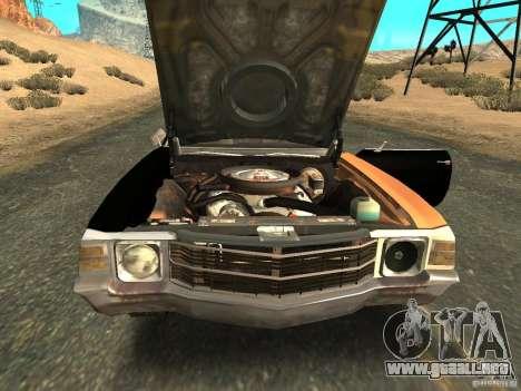 Chevrolet Chevelle Rustelle para la visión correcta GTA San Andreas