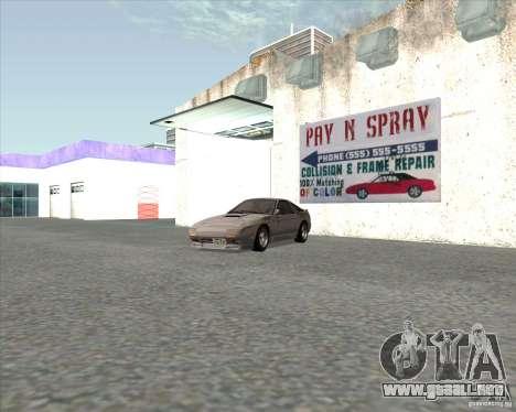 Mazda Savanna RX-7 FC3S para GTA San Andreas vista posterior izquierda