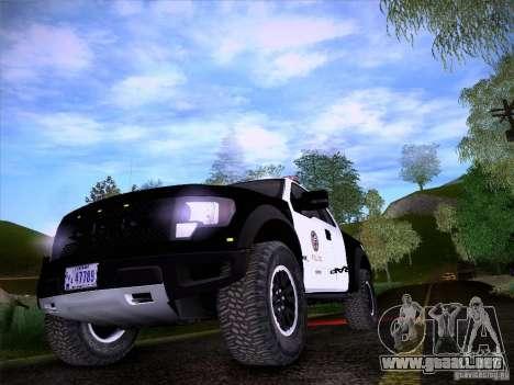 Ford Raptor Police para visión interna GTA San Andreas