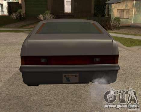 Blistac mejorada para GTA San Andreas vista posterior izquierda