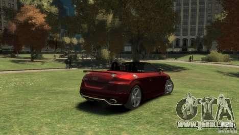 Audi TT RS Roadster para GTA 4 Vista posterior izquierda