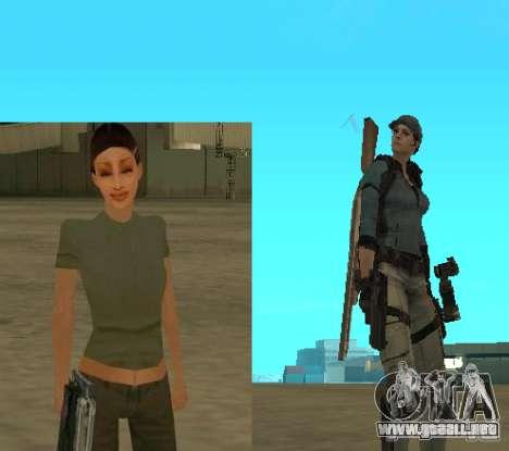 Pak personajes de Resident Evil para GTA San Andreas sucesivamente de pantalla