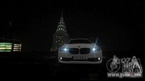BMW GT F07 2012 GranTurismo para GTA 4 vista superior