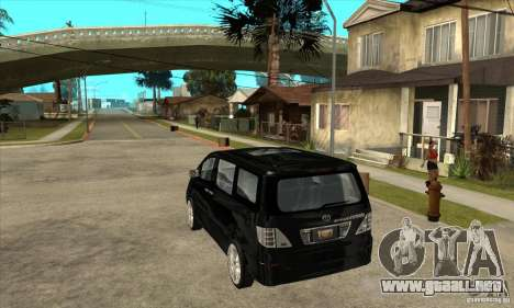 Toyota Alphard Hybrid para GTA San Andreas vista posterior izquierda