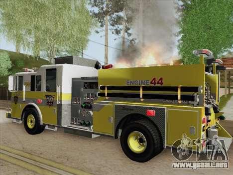 Seagrave Marauder II BCFD Engine 44 para el motor de GTA San Andreas