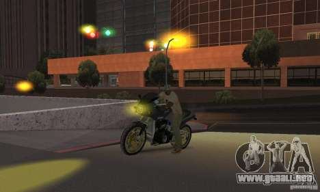Faros amarillos para GTA San Andreas sucesivamente de pantalla