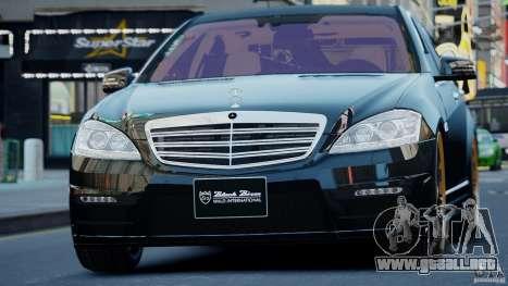 Mercedes-Benz S Class W221 Black Bison 2009 para GTA 4 Vista posterior izquierda