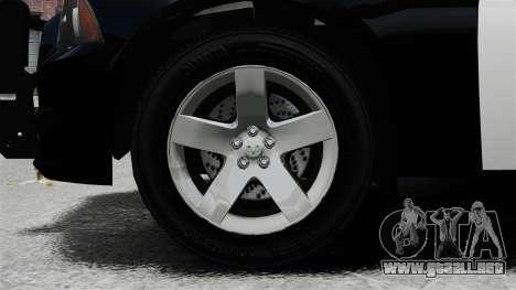Dodge Charger 2013 Police Code 3 RX2700 v1.1 ELS para GTA 4 vista hacia atrás