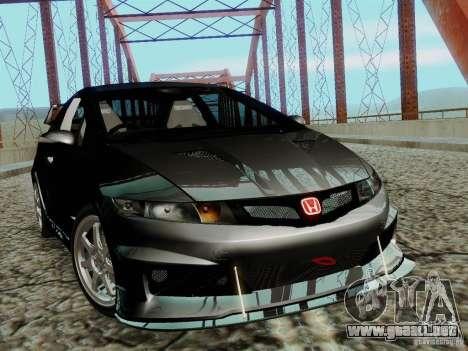 Honda Civic TypeR Mugen 2010 para GTA San Andreas vista posterior izquierda