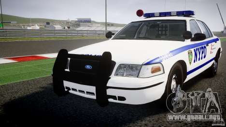 Ford Crown Victoria NYPD [ELS] para GTA 4 vista superior