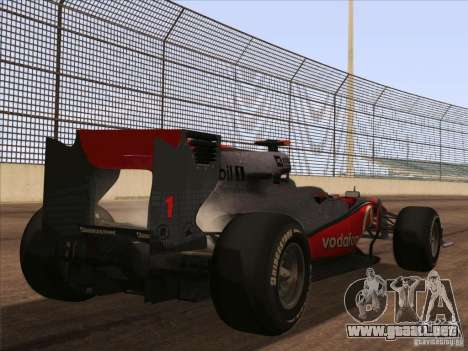 McLaren MP4-25 F1 para GTA San Andreas left