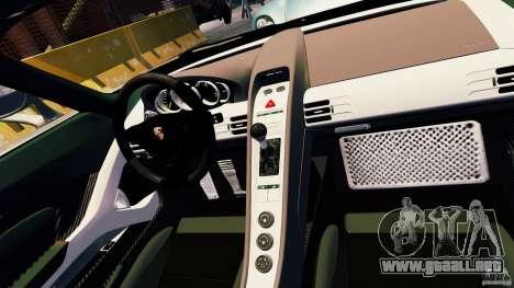 Porsche Carrera GT para GTA 4 vista superior