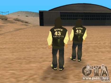 Ken Block Family para GTA San Andreas tercera pantalla