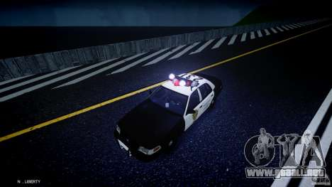 Ford Crown Victoria Raccoon City Police Car para GTA 4 vista superior