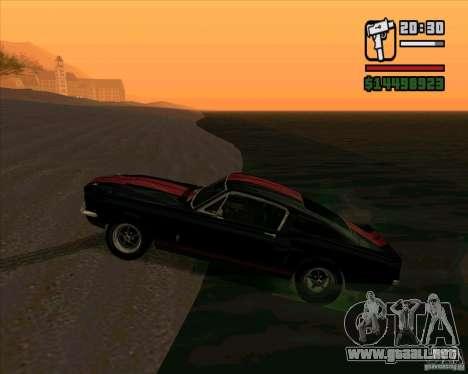 Shelby Mustang GT500 1967 para GTA San Andreas left
