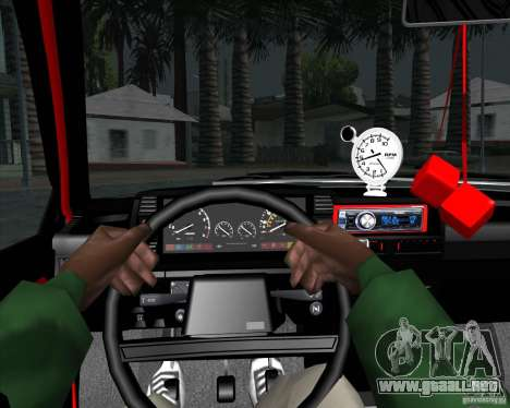 VAZ 2109 Drift para visión interna GTA San Andreas