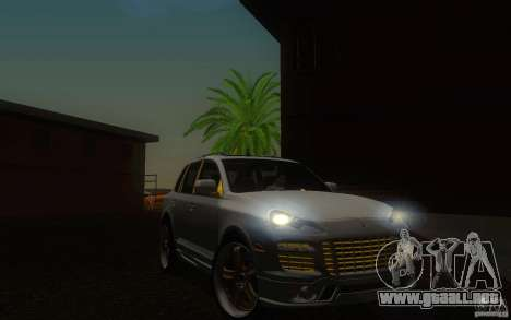 Porsche Cayenne gold para visión interna GTA San Andreas