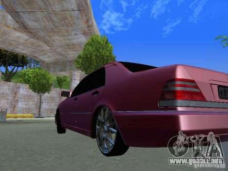 Mercedes-Benz S600 W140 v 2.0 para GTA San Andreas vista hacia atrás