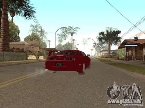 Toyota Supra para GTA San Andreas vista posterior izquierda