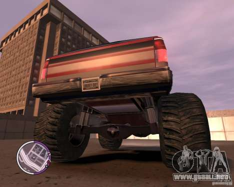 Monster from San Andreas para GTA 4 vista lateral