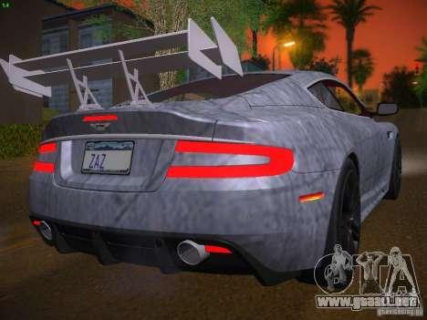 Aston Martin DBS para vista inferior GTA San Andreas