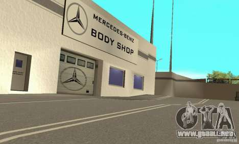 Mercedes Showroom v.1.0 (Autocentre) para GTA San Andreas sucesivamente de pantalla